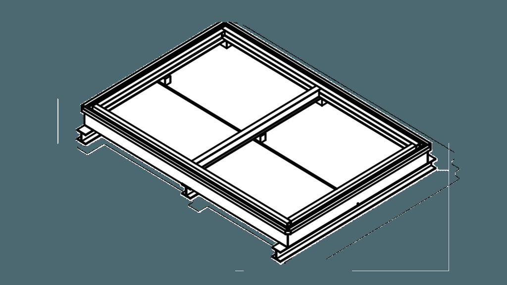 Zeichnung Containerwanne für Containerstellplatz