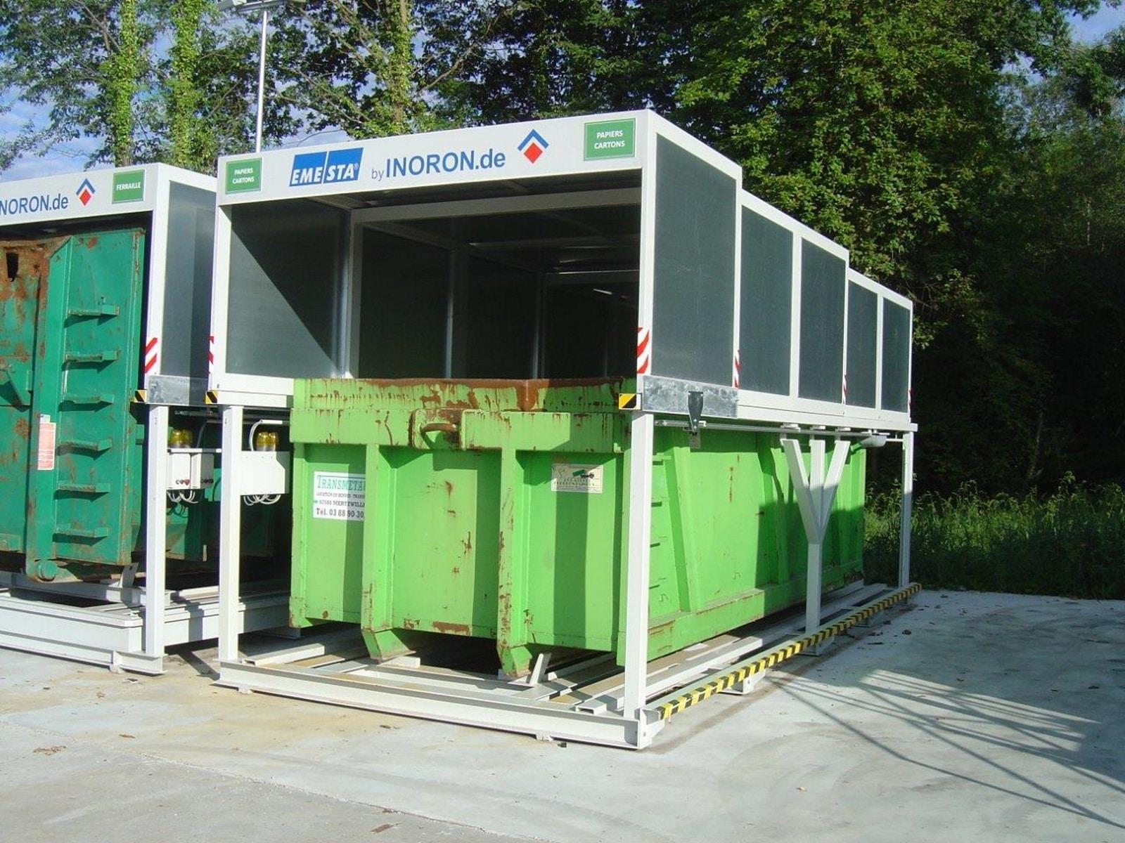 Containerstellplatz - Nur-Dach Modell