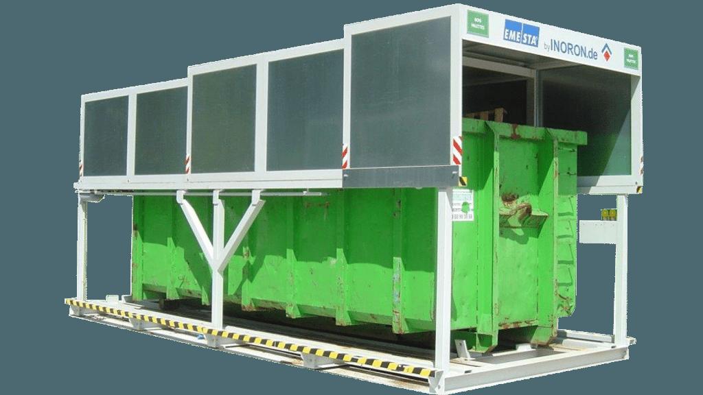 Containerstellplatz für Abrollcontainer - Nur Dach Modell