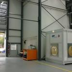 Containerstellplatz und mobiler Waschplatz in einem Bild