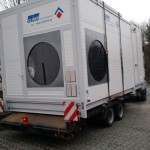 CLINER Waschplatz auf dem LKW Transport zum Kunden