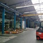 CLINER mobiler Waschplatz mitten in der Produktionshalle für kurze Wege