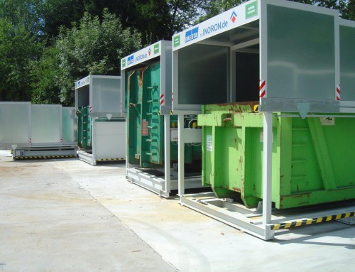 Entsorgungskonzept mit Containerstellplatz
