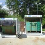 Zwei Containerstellplatz Systeme für Absetzcontainer und Abrollcontainer - Frontansicht