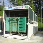 Containerstellplatz Abroller Dach geschlossen