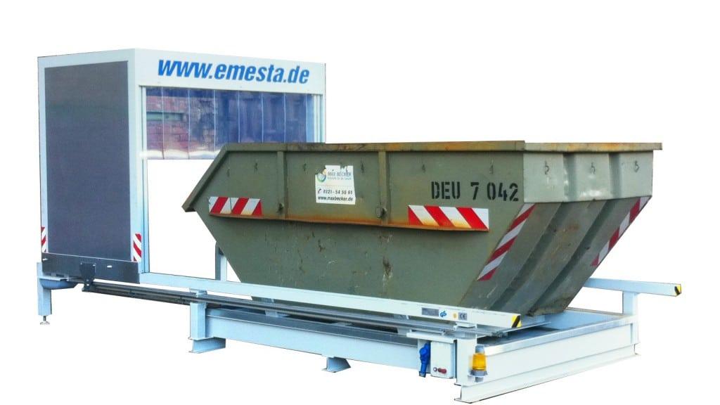 Containerstellplatz zum Lagern von Späncontainer WHG konform