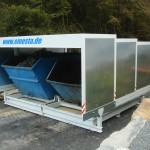 Frontansicht Containerstellplatz mit zwei Spänecontainern