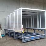 Containerstellplatz mit Dach und Auffangwanne - Dach geschlossen