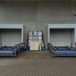Containerstellplatz mit Dach und Auffangwanne - Dach geöffnet