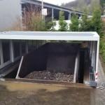 Grubenabdeckung für Container Dach geschlossen