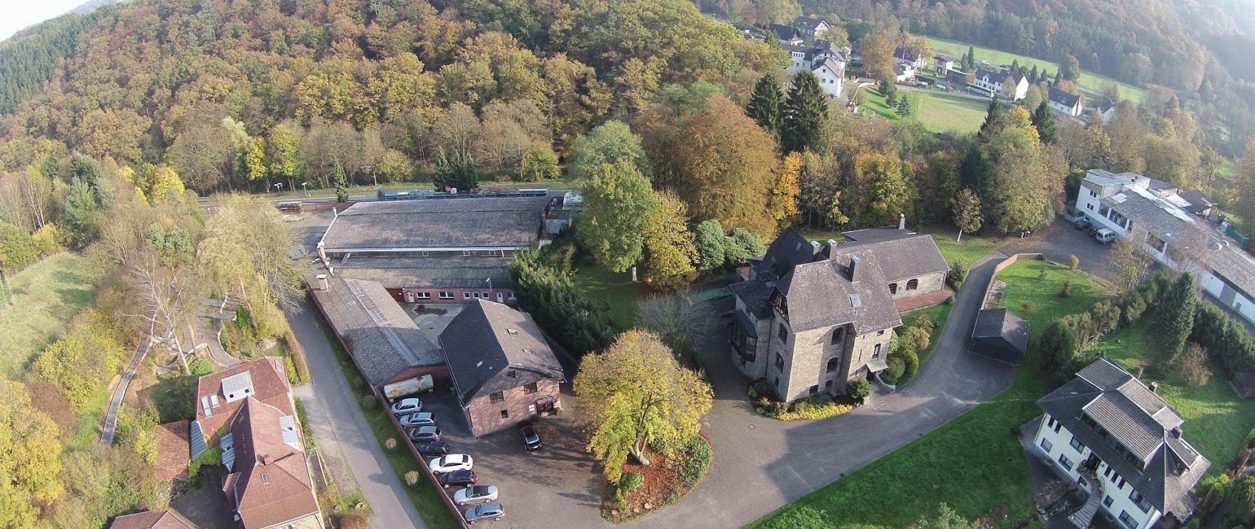 Luftbild der Halle der INORON GmbH Bröleck