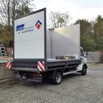 mobiler Waschplatz CLINER auf LKW zum Kunden