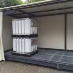 Abtropfstation Gefahrenlager für IBC-Container