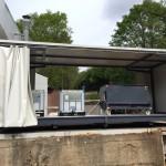 Abtropfstation Gefahrenlager für IBC-Container und Kippmulde