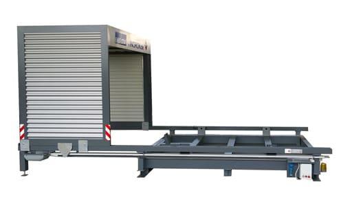 Containerstellplatz EMESTA Dach auf seitenansicht