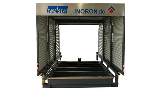 Containerstellplatz EMESTA Dach zu frontansicht