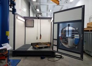 Mobiler Waschplatz mit Drehteller und Beladung per Hallenkran