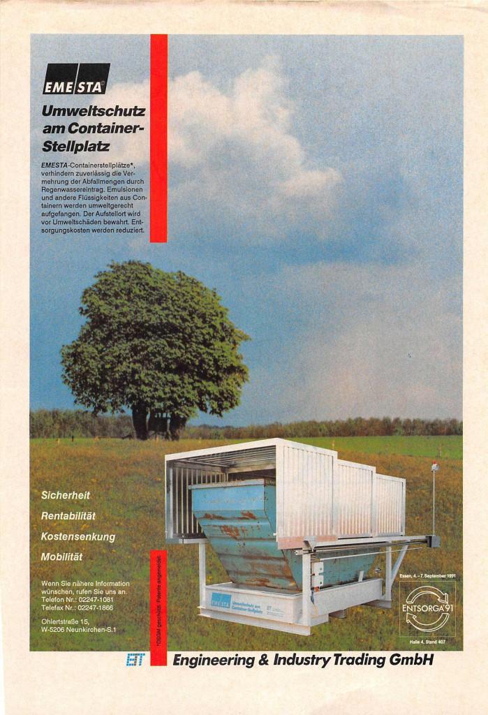 Containerstellplatz Werbung Retro