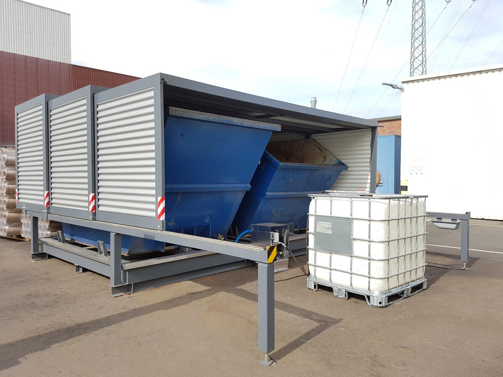 Containerstellplatz zur Emulsion Rückgewinnung