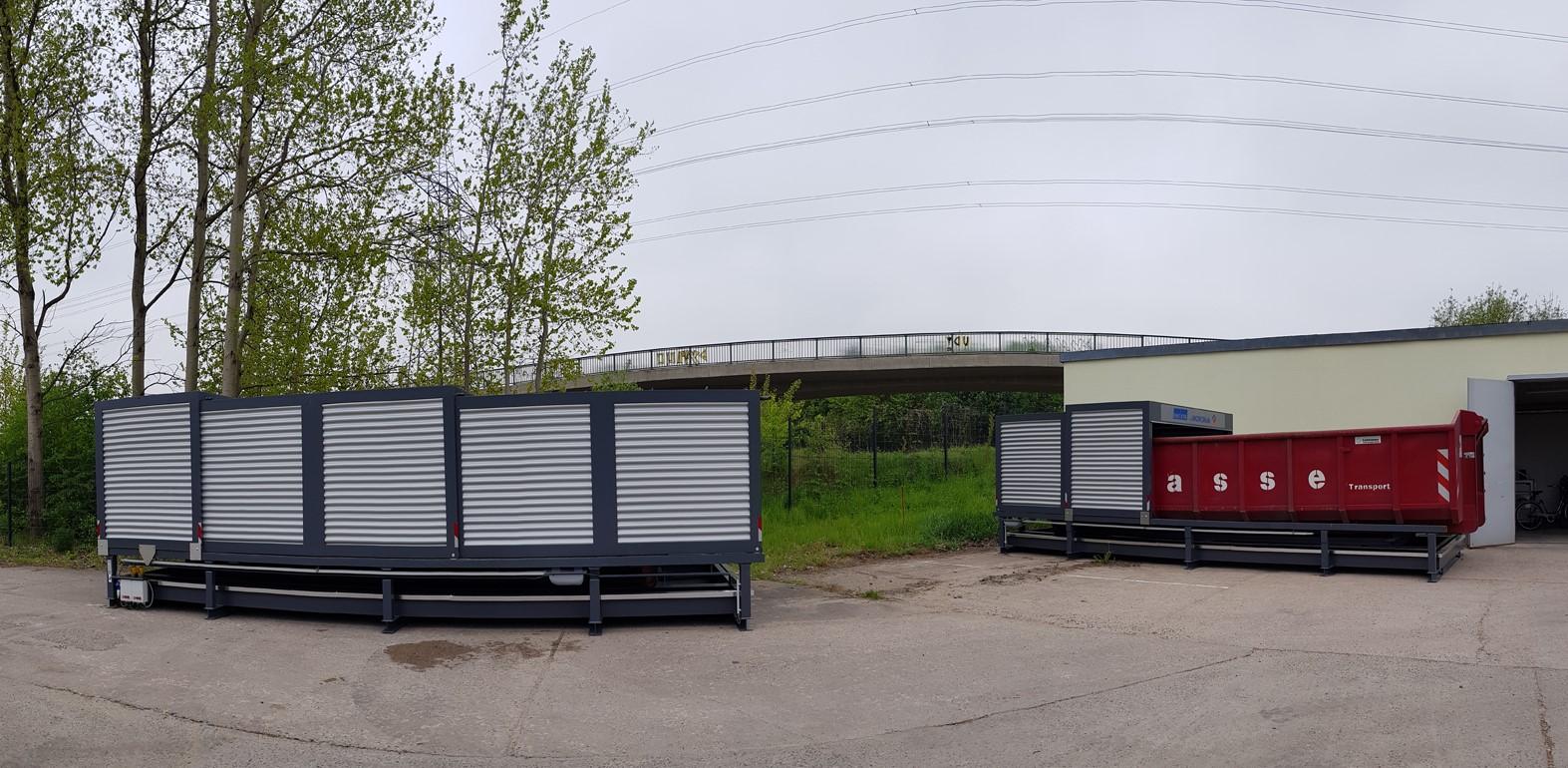 Abrollcontainer WHG konform im Containerstellplatz (39)