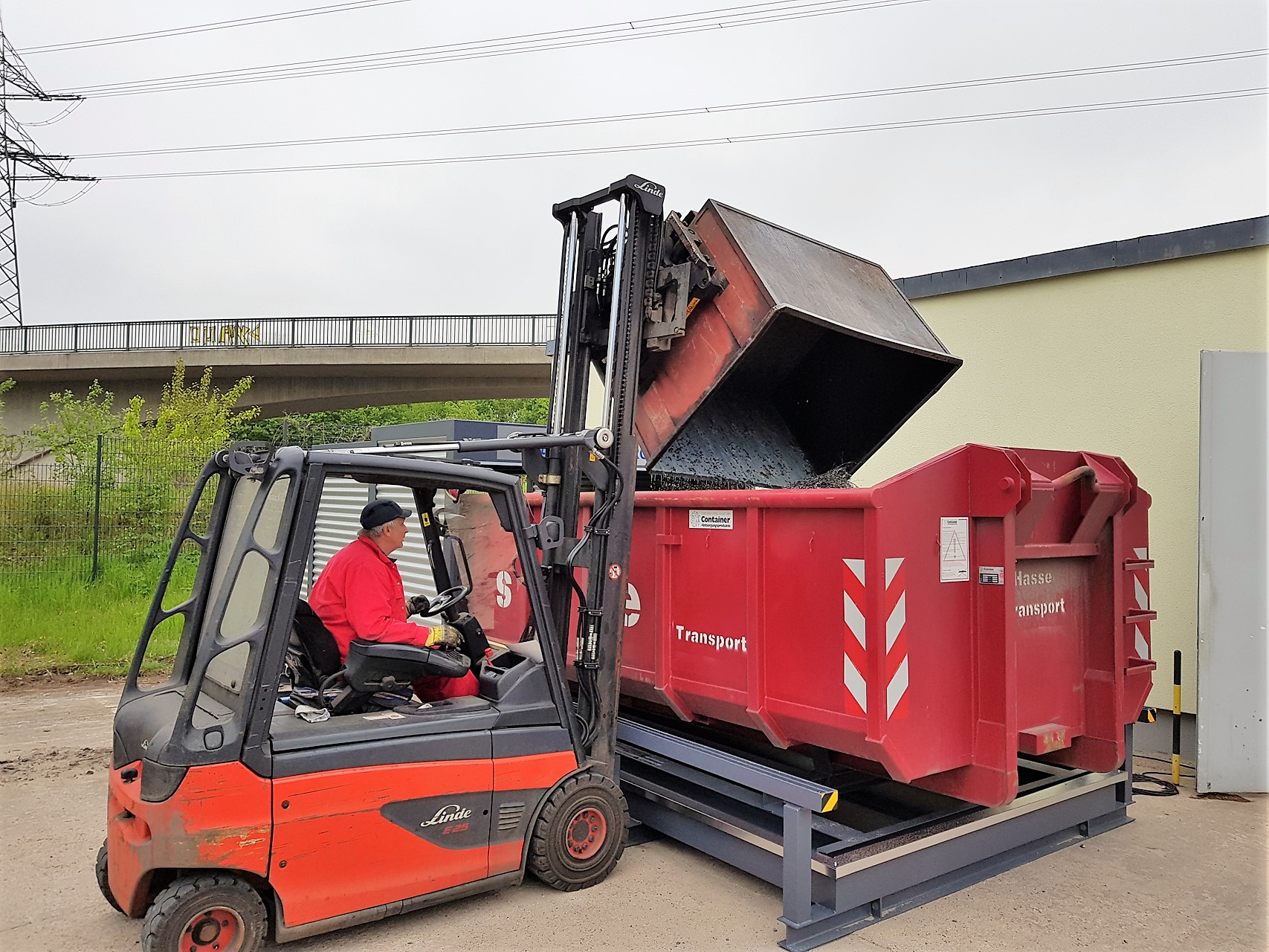 Abrollcontainer WHG konform lagern