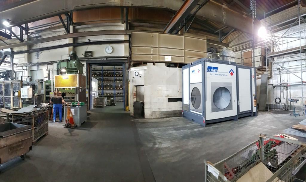 Waschplatz in Produktion