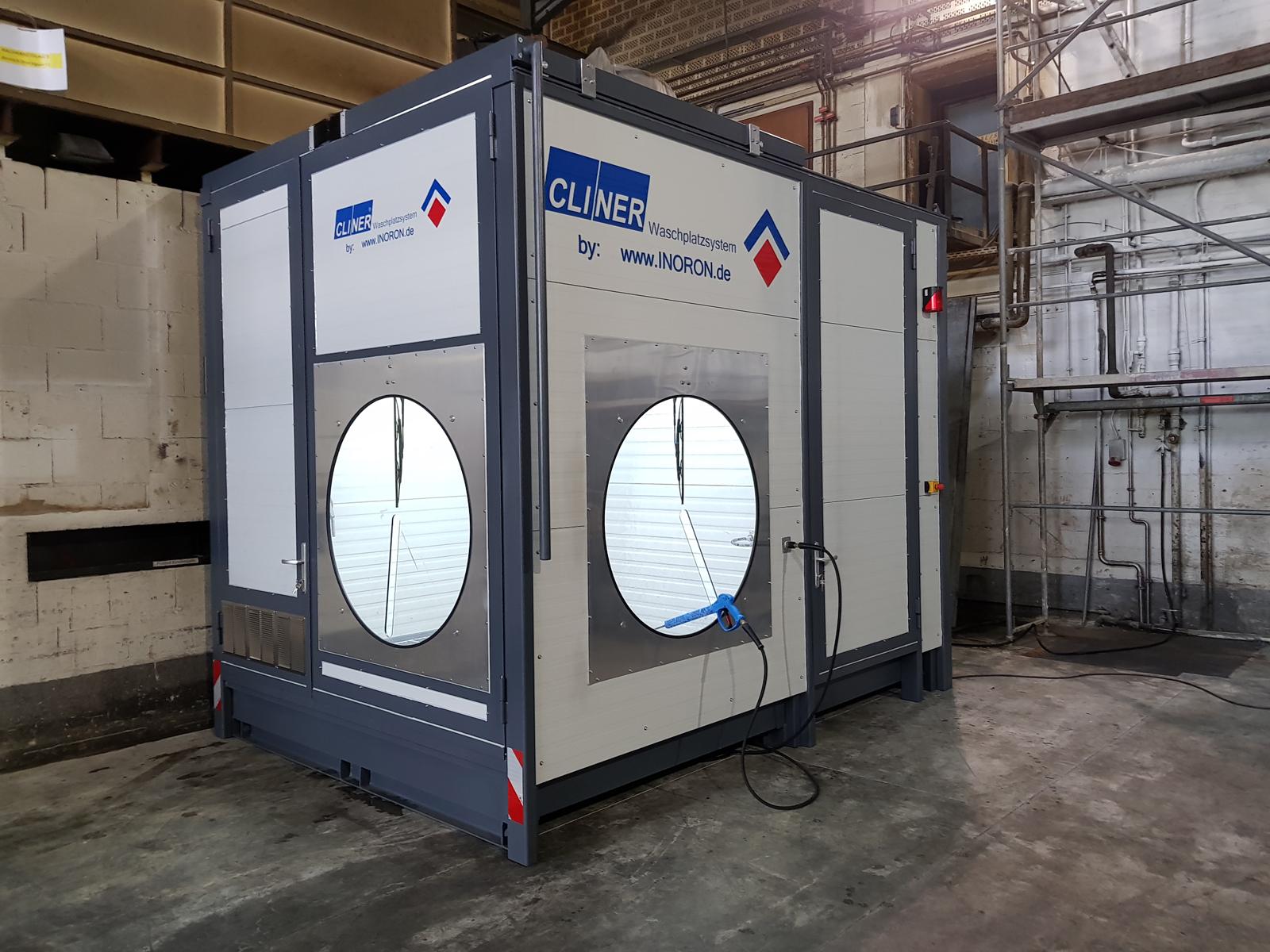Waschplatz für Instandhaltung in der Produktionshalle