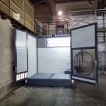 Mobiler Waschplatz Tür und Dach offen