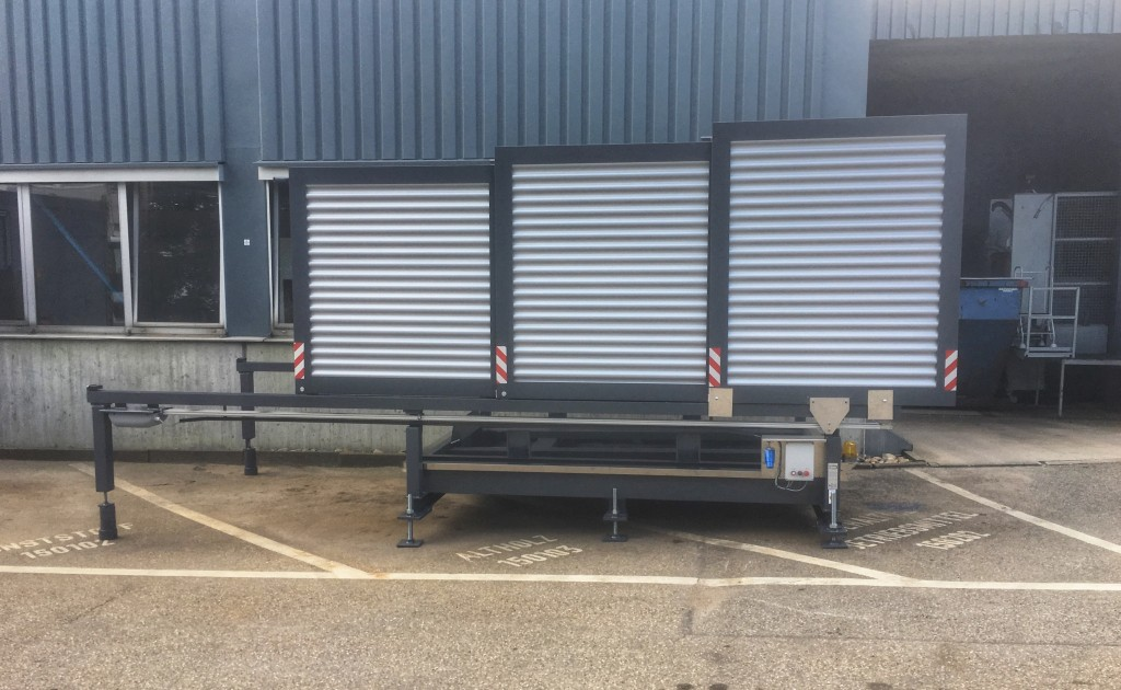 Containerstellplatz EK10 mit neuem Steuerungsblech und Füßen